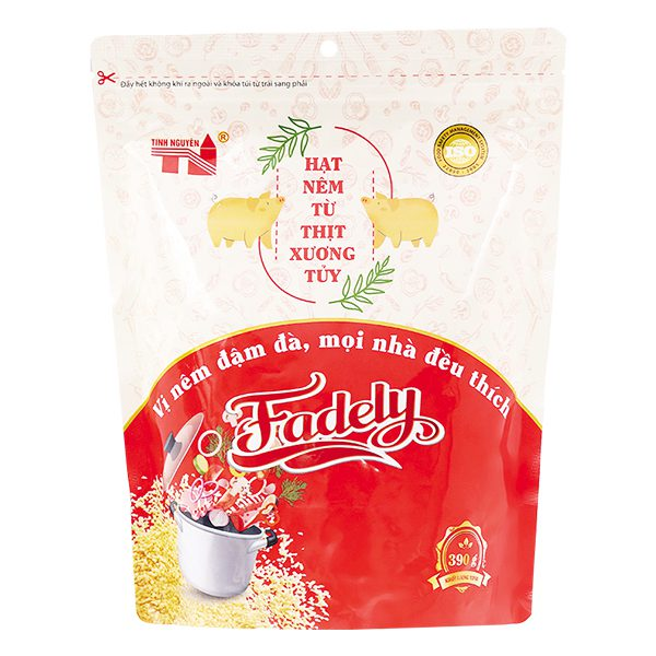 Hạt Nêm Fadely Heo Từ Thịt Xương Tủy Gói 390G