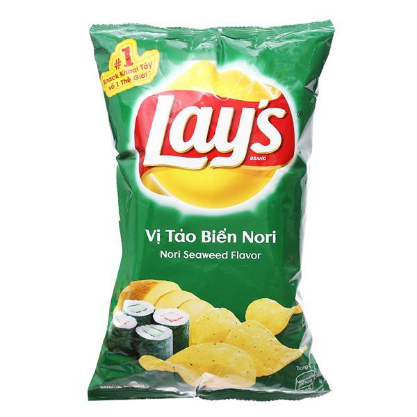 Snack Khoai Tây Lay's Vị Tảo Biển Nori Gói 56G