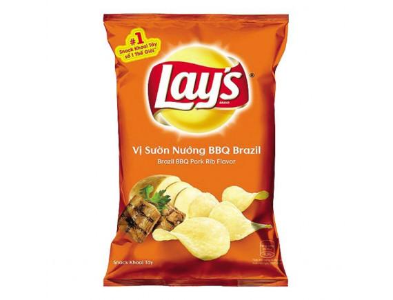 Snack Khoai Tây Lay's Vị Sườn Nướng BBQ Gói 95G