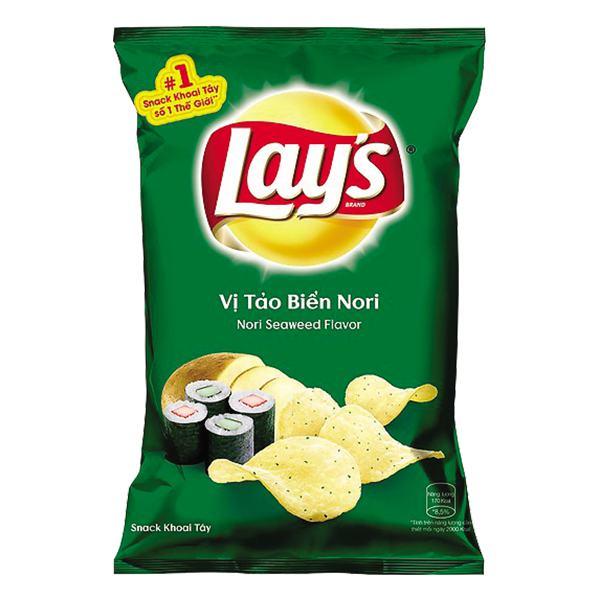 Snack Lay's Khoai Tây Vị Tảo Biển Nori Gói 95G