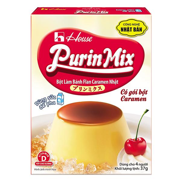 Bột Bánh Flan Purin Mix Vị Caramen Hộp 53G