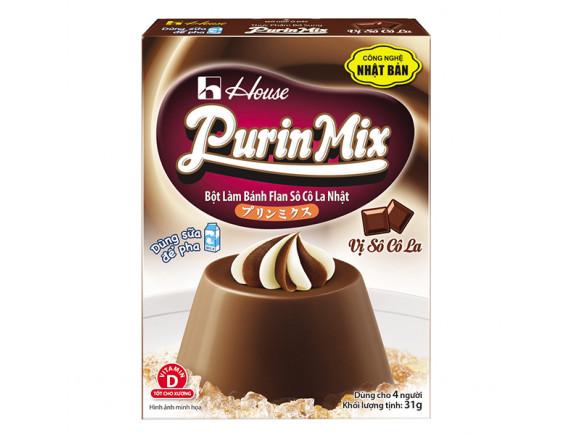 Bột Bánh Flan Purin Mix Vị Socola Hộp 47G
