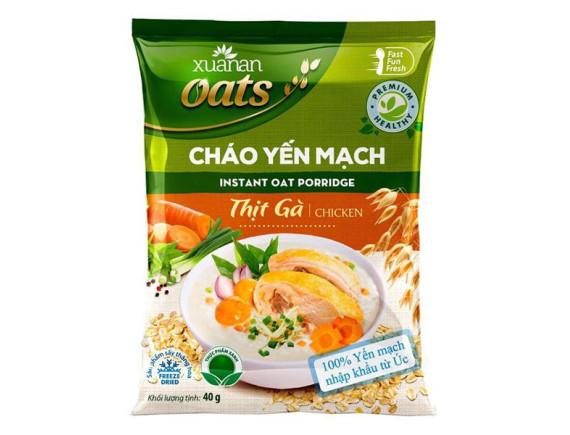 Cháo Yến Mạch Xuân An Thịt Gà Gói 40G