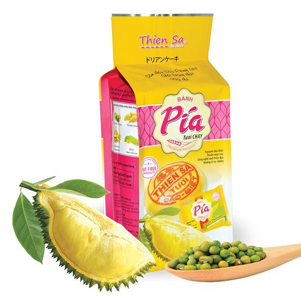 Bánh Pía Tươi Chay Thiên Sa Đậu Xanh Sầu Riêng Gói 280G