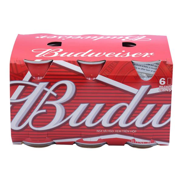 Bia Budweiser Lốc 6 Lon 330Ml