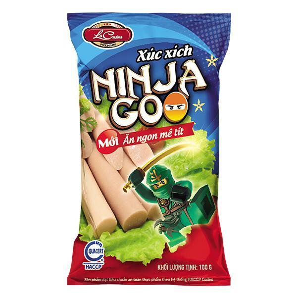 Xúc Xích Tiệt Trùng La Cusina Ninja Goo 100G