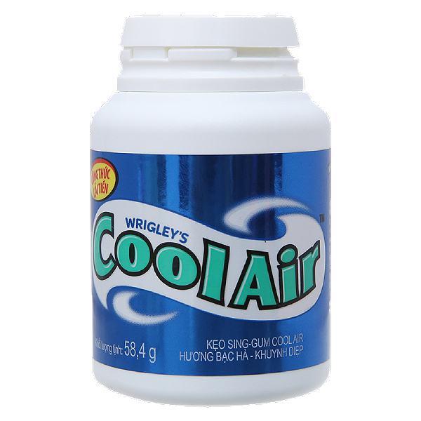 Kẹo Cao Su Cool Air Hương Bạc Hà Khuynh Diệp Hũ 58.4G