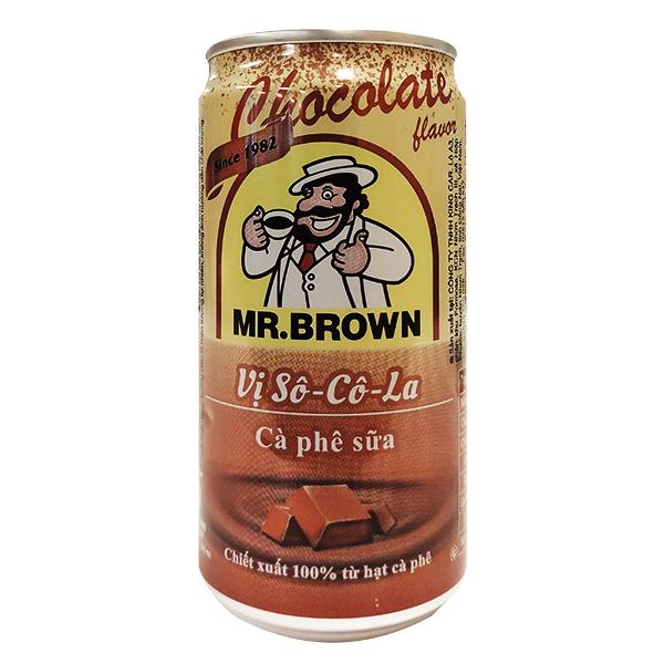 Cà Phê Sữa Mr Brown Vị Socola Lon 240Ml