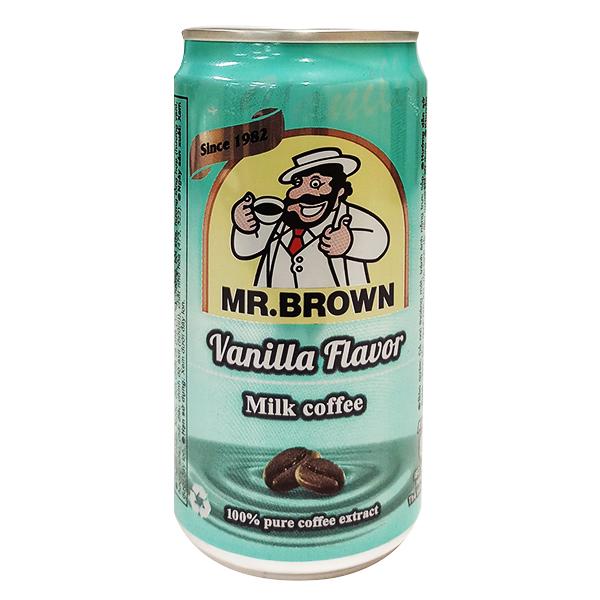 Cà Phê Sữa Mr Brown Vị Vani Lon 240Ml