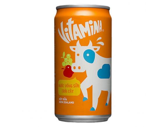 Nước Uống Sữa Trái Cây Vitamin A Lon 240Ml