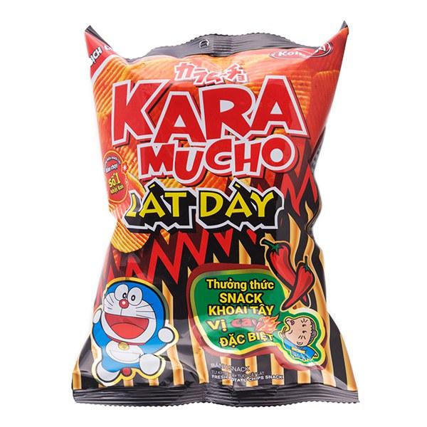 Snack Khoai Tây Karamucho Lát Dày Cay Đặc Biệt Gói 44G