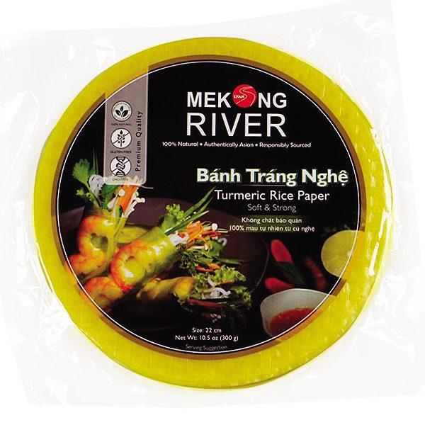 Bánh Tráng Mekong River Nghệ 22Cm 300G