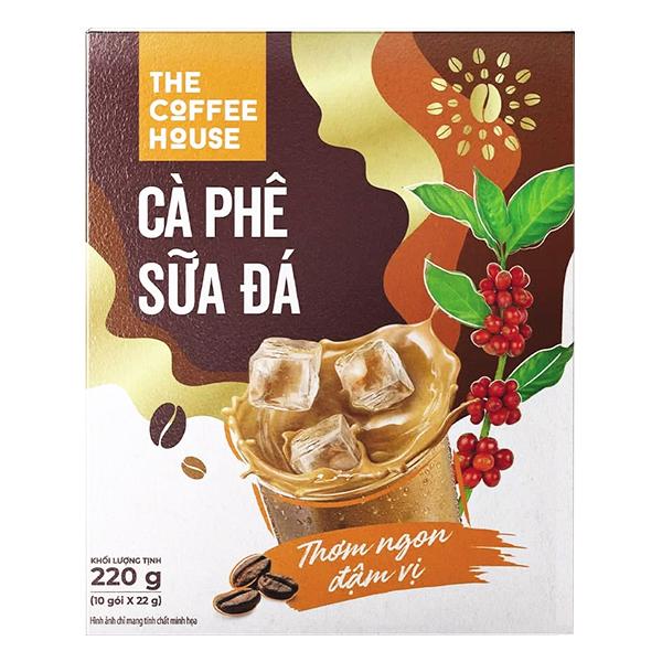 Cà Phê Sữa Đá The Coffee House Hộp 10 Gói*22G