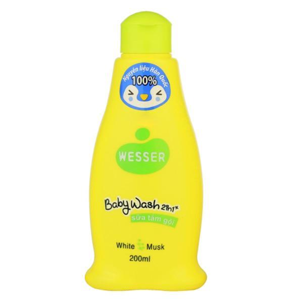 Sữa Tắm Gội Wesser Xanh Lá 2IN1 200Ml