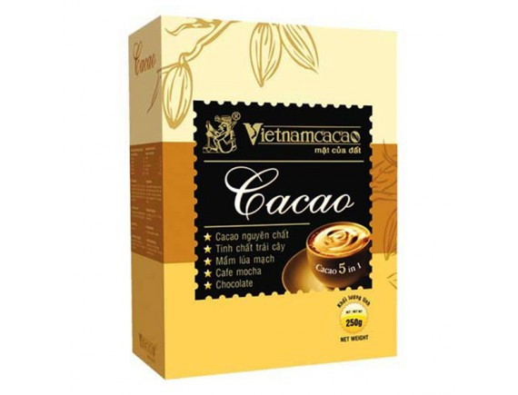 Bột Cacao Vietnamcacao 5IN1 Hộp 250G