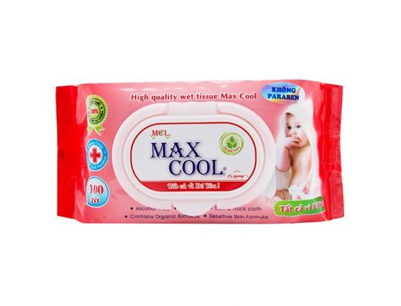 Khăn Ướt Max Cool Có Hương 100 Tờ