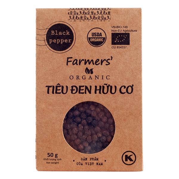 Tiêu Đen Hữu Cơ Farmer's Organic Túi 50G