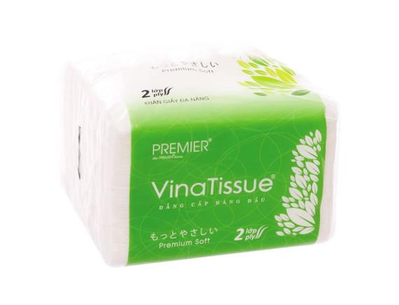 Khăn Rút Premier Vinatissue 2 Lớp 200 Tờ