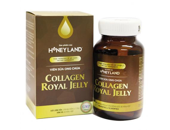 Viên Uống Sữa Ong Chúa Honey Land Collagen Royal Jelly 60 Viên