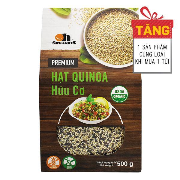Hạt Quinoa (Diêm Mạch) Oh Smile Nuts Túi 500G - Mua 1 Tặng 1