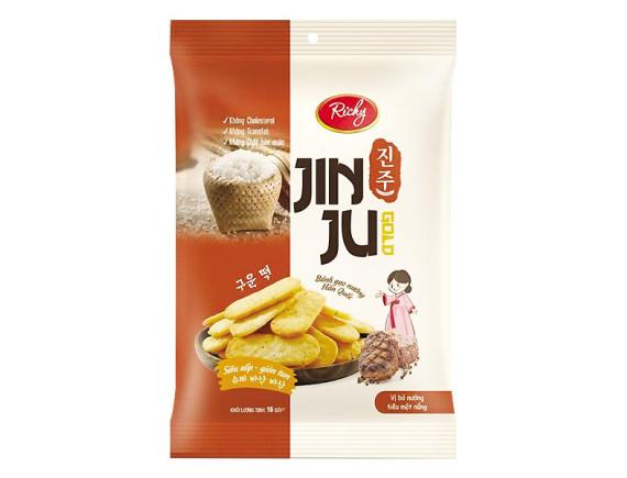Bánh Gạo Richy Jinju Vị Bò Nướng Tiêu 134.4G