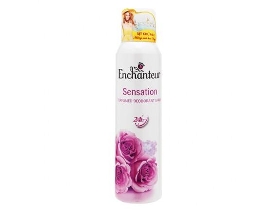 Xịt Khử Mùi Enchanteur Sensation 150Ml