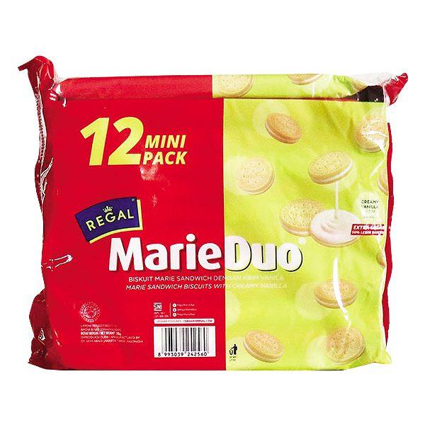 Bánh Quy Regal MarieDuo Kem Vani Gói 240G