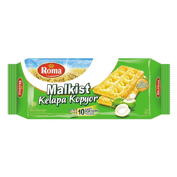 Bánh Quy Giòn Roma Malkist Dừa 190G