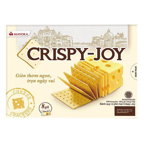 Bánh Quy Phô Mai Crispy Joy Hộp 8 Gói*45G
