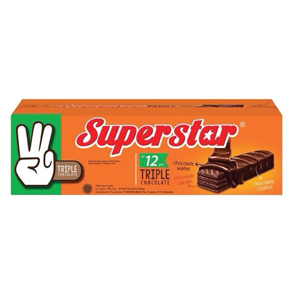 Bánh Xốp Super Star 12 Gói*18G