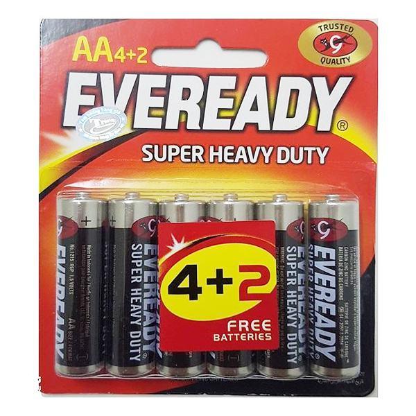 Vỉ 4+2 Pin Eveready SHD AA 1215