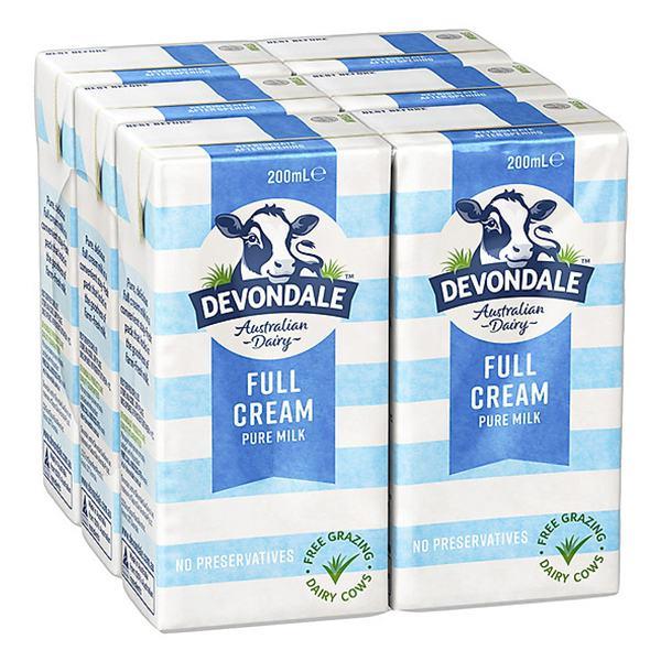 Lốc 6 Sữa Tươi Tiệt Trùng Devondale Nguyên Kem 200Ml
