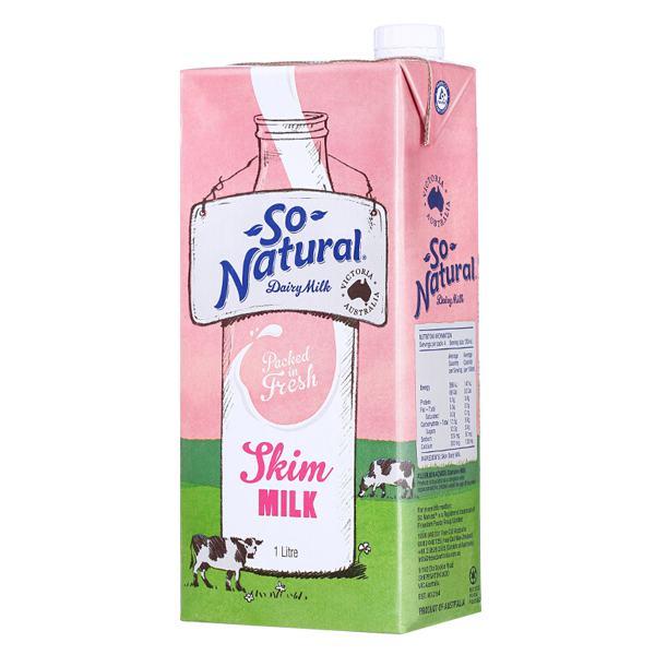 Sữa Tươi Tiệt Trùng IFSS So Natural Ít Béo 1L