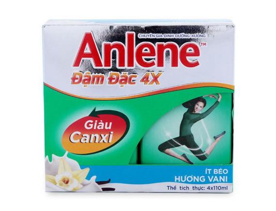 Lốc 4 Sữa Bột Pha Sẵn Anlene Vani 125Ml