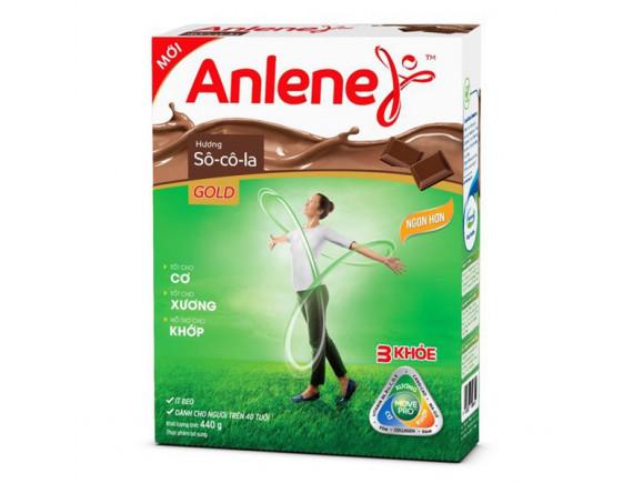 Sữa Bột Dinh Dưỡng Anlene Socola Trên 45 Tuổi Hộp Giấy 440G