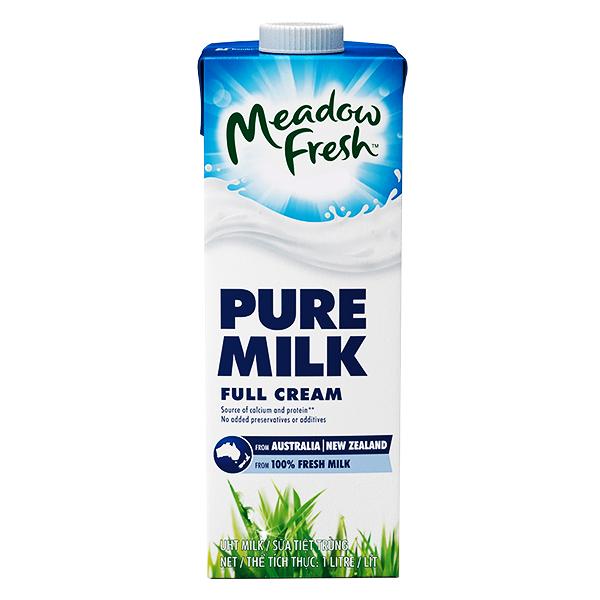 Sữa Tươi Tiệt Trùng Meadow Fresh Nguyên Kem Hộp Giấy 1L