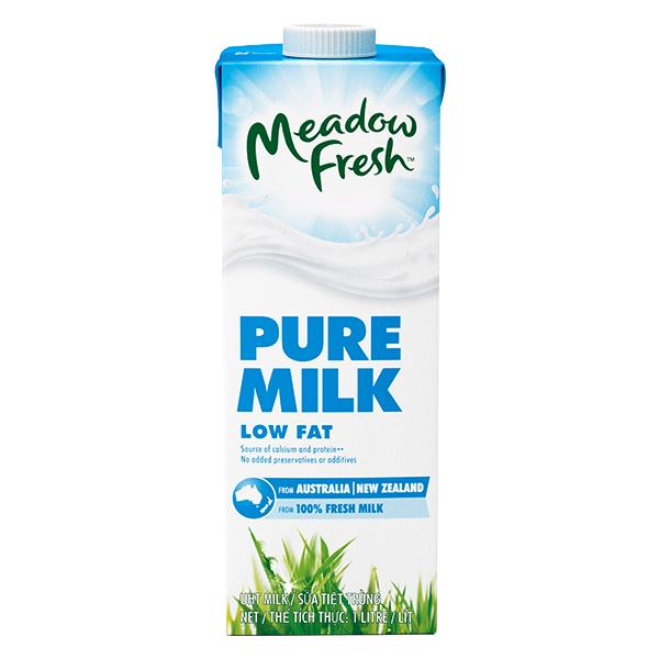 Sữa Tươi Tiệt Trùng Meadow Fresh Ít Béo Hộp Giấy 1L