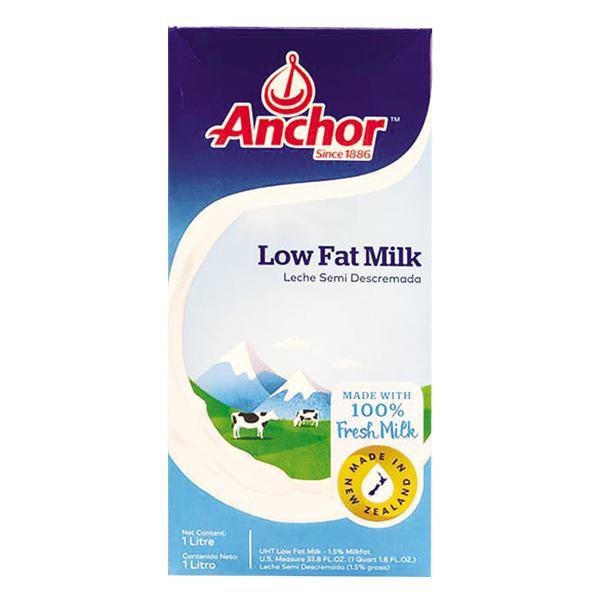 Sữa Tươi Tiệt Trùng Anchor Ít Béo Hộp Giấy 1L