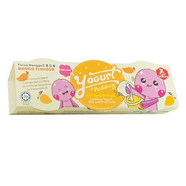 Lốc 3 Thạch Sữa Chua Pudding Swecco Vị Xoài Hũ 80G